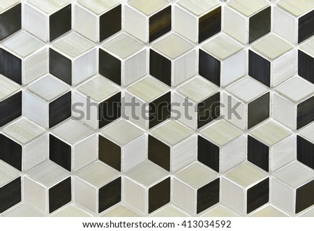 abstract retro geometric pattern background - stock photo
