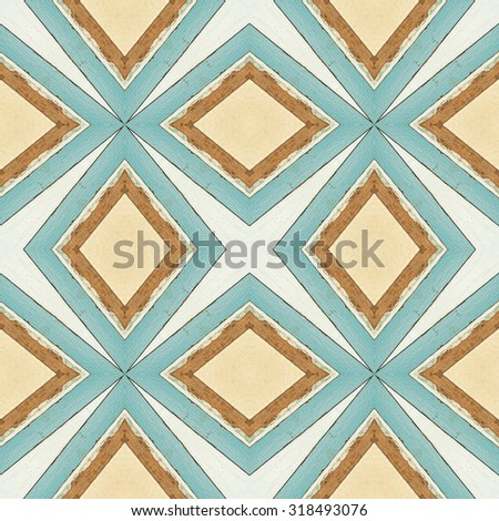 abstract  retro pattern of colorful abstract seamless geometric wood background for decorative wallpaper - stock photo