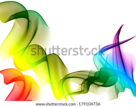 abstract ribbons on white background