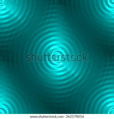 Abstract ripple in water with concentric circles. Seamless droplet falling blue light in water