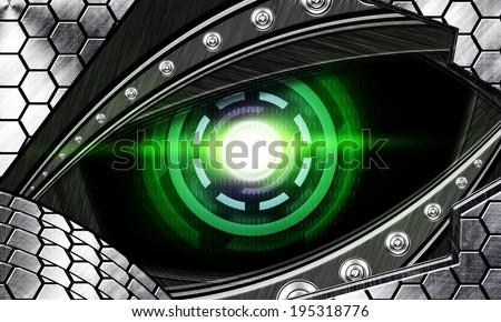 abstract robot eye - stock photo
