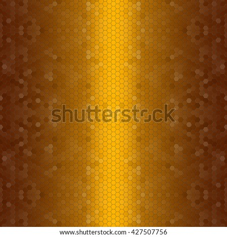 Abstract rose gold pattern of hexagon texture background - stock photo