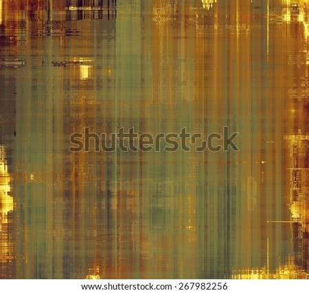 Abstract rough grunge background, colorful texture. With different color patterns: yellow (beige); brown; green - stock photo