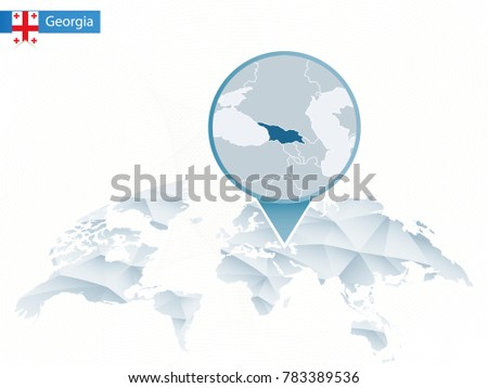 Georgia map pin imgenes pagas y sin cargo y vectores en stock abstract rounded world map with pinned detailed georgia map raster copy gumiabroncs Image collections