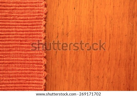 Abstract Rust Colored Fabric and Timber Background 2 - stock photo