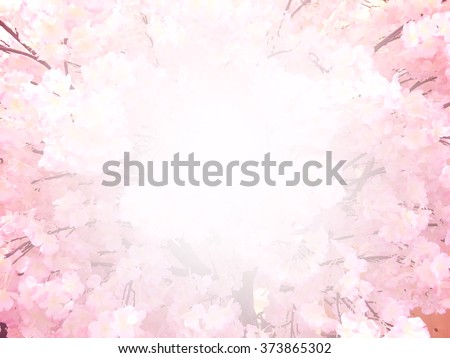 abstract sakura blossom, Soft focus,Background with pink color filter - stock photo