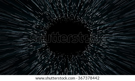 abstract scene of overcoming the temporary space in space, time machine - stock photo