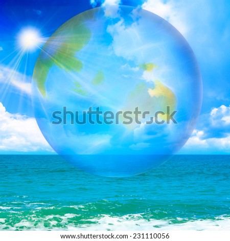 abstract scene with planet