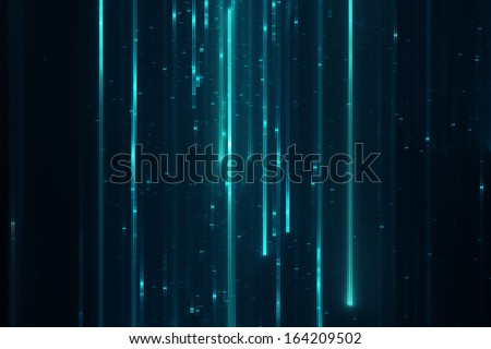 Abstract sci-fi matrix like futuristic modern line background