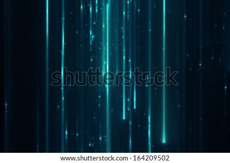 Abstract sci-fi matrix like futuristic modern line background - stock photo