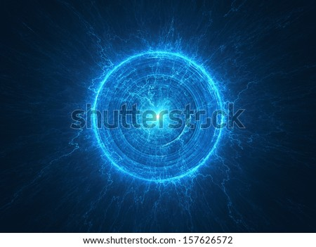 Abstract science background - Electromagnetic field - Tesla coil - stock photo
