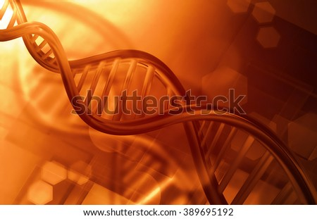 Abstract science background with DNA strands - stock photo