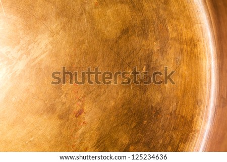 Abstract scratched copper metal plate - stock photo