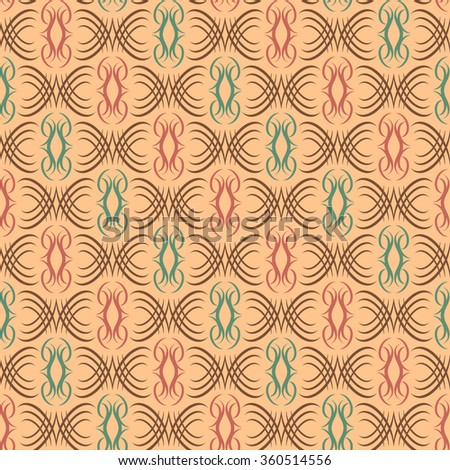 Abstract Scroll Pattern repeats seamlessly. - stock photo
