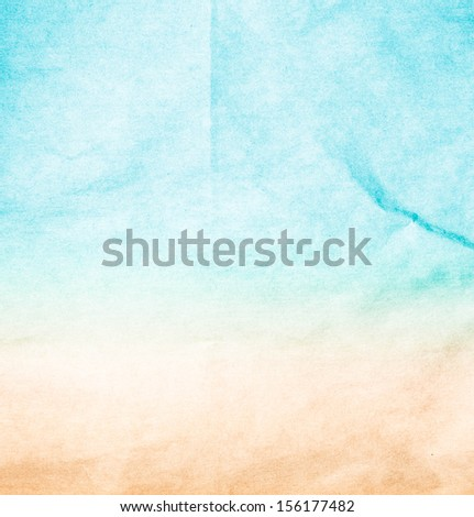 Abstract sea beach recycled paper texture, may use as background. Designed grunge abstract style. - stock photo