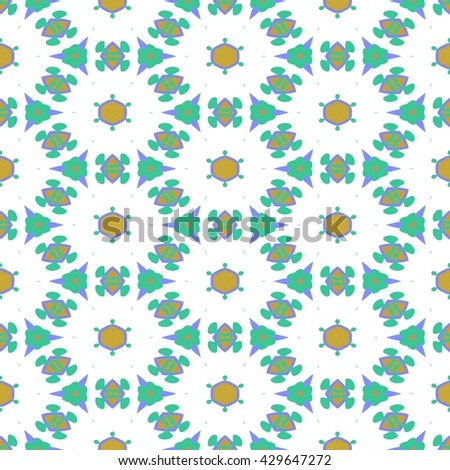 Abstract seamless colorful fine pattern with small regular repeat elements - stock photo