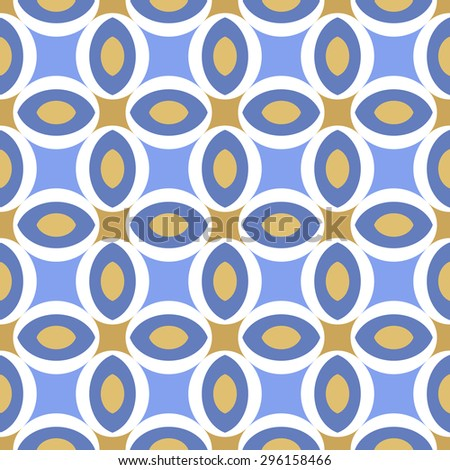 Abstract Seamless geometric floral pattern. illustration - stock photo