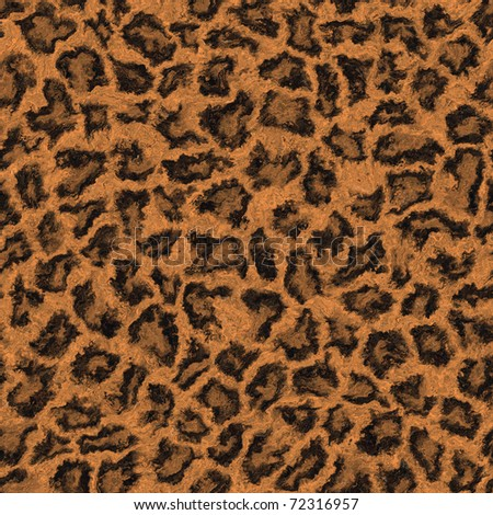 Abstract seamless leopard skin - stock photo