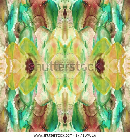 Abstract seamless painted canvas as multicolor background - stock photo
