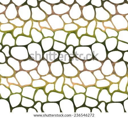 Abstract seamless pattern based on geometric shapes. Watercolor paint. Nature theme.Can be used as decoration for the gift boxes, wallpapers, backgrounds, web sites.  - stock photo