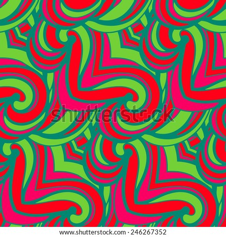 Abstract seamless pattern in doodle style.