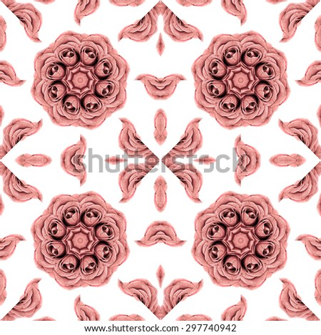 abstract seamless pattern made from  vintage rose ,can be used for texture background  - stock photo