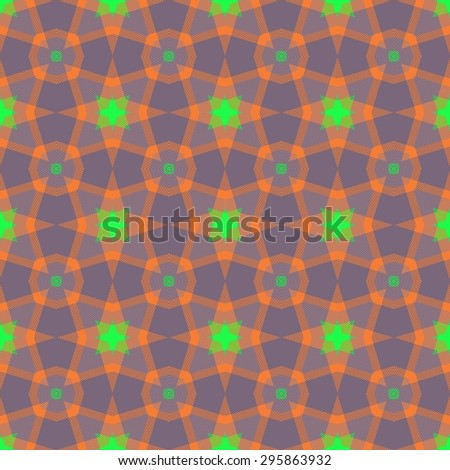 Abstract seamless pattern with a kaleidoscopic motif