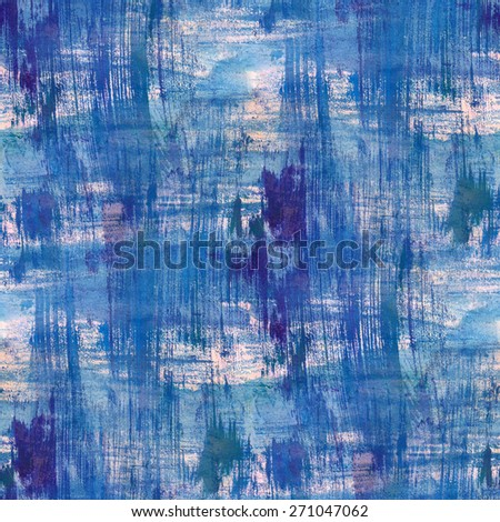 Abstract seamless pattern with acrylic painting. - stock photo