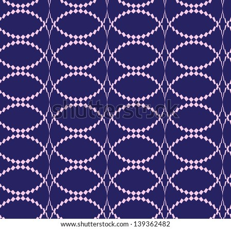 Abstract seamless pattern with thorny rings - stock photo