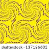 Abstract seamless pattern with whirl-like figures - stock vector