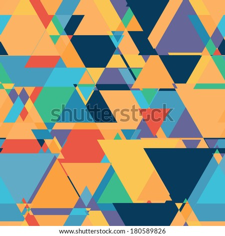 Abstract seamless retro pattern. - stock photo