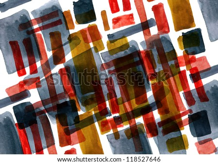 Abstract shapes  painted in watercolor for your further design project - stock photo