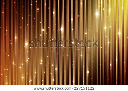 Abstract shining gold elegant background with diamonds - stock photo