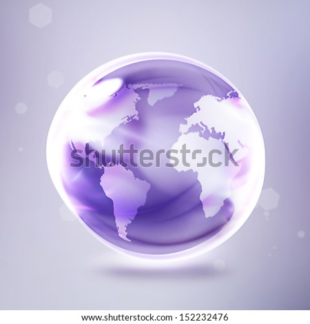 abstract shining world on a light background