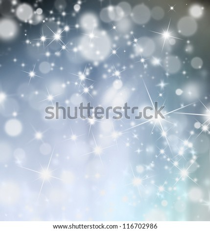 Abstract shiny blur christmas background - stock photo