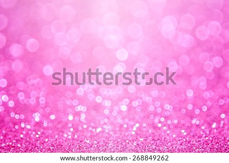 Abstract shiny pink glitter sparkle confetti party background - stock photo