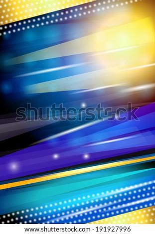 Abstract shiny streaky sparkling blue nightlife disco background design print  illustration - stock photo