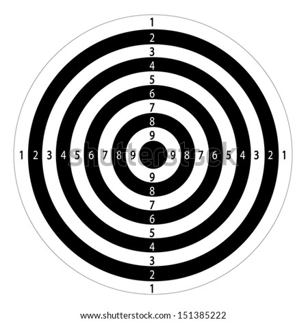 Abstract Shooting Target