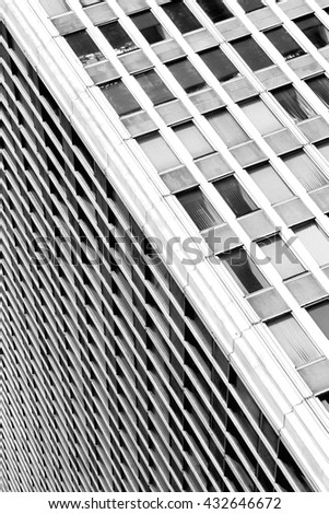 Abstract shot of city business or residential building. Architecture details
