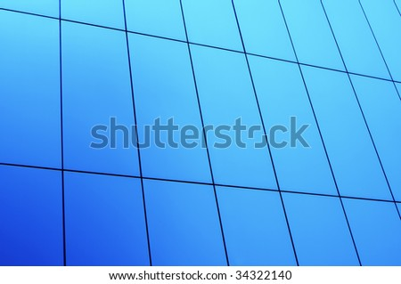 Abstract shot of office building wall. Can be used as background. - stock photo