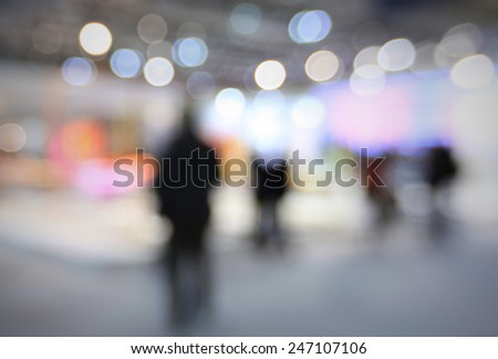 Abstract silhouettes. Intentionally blurred post production background. - stock photo