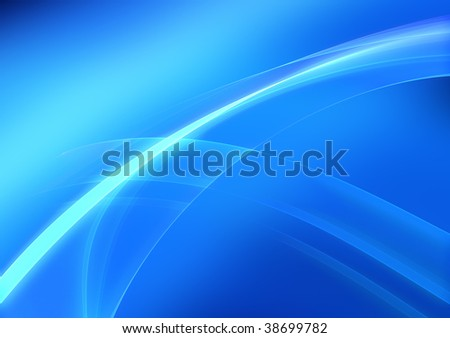 Abstract silky blue background