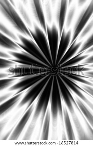 Abstract silver flower