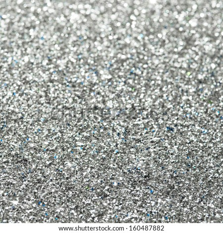 Abstract silver glitter background - stock photo