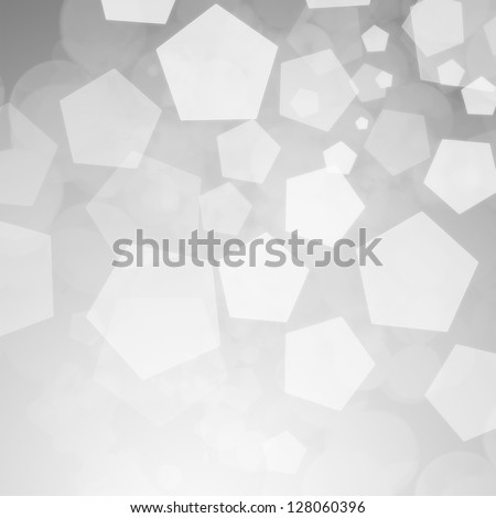 Abstract silver winter background - stock photo