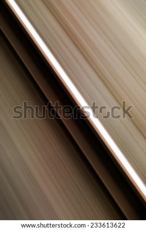 Abstract single rail in motion blur fast speed concept railway  - stock photo