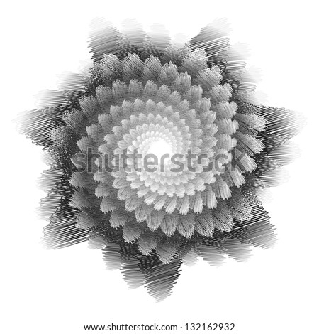 Abstract sketch background. Raster Version - stock photo