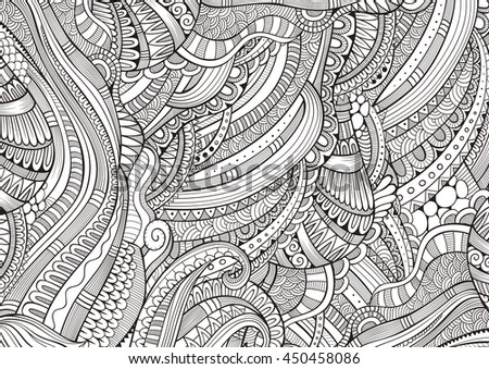 Abstract sketchy decorative doodles hand drawn stock for Coloring pages with lots of detail