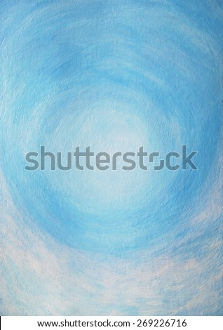 abstract sky and clouds acrylic color painting background - stock photo