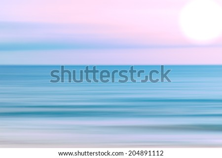 Abstract sky and  ocean nature background with blurred panning motion. - stock photo